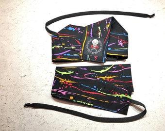 Paint Splatter Wrist Wraps, WOD, Weightlifting, Athletic