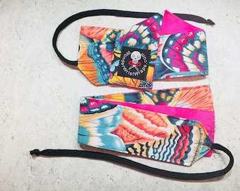 Bright Butterfly Wings, Wrist Wraps, WOD, Weightlifting, Athletic