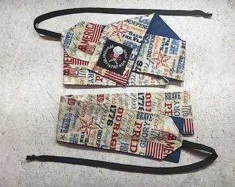 American Flag, Liberty & Freedom, Wrist Wrap, WOD, Weightlifting, Athletic, Military, Patriotic