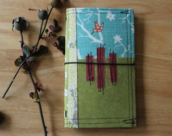 HI BIRDIE - Fabric Traveler's Notebook Cover