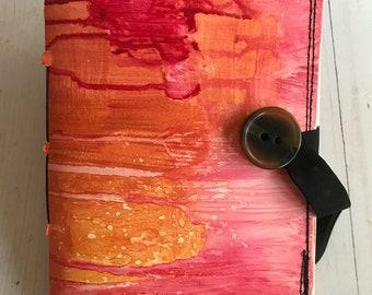 SUNSET Button Sketchbook - blank OOAK art journal