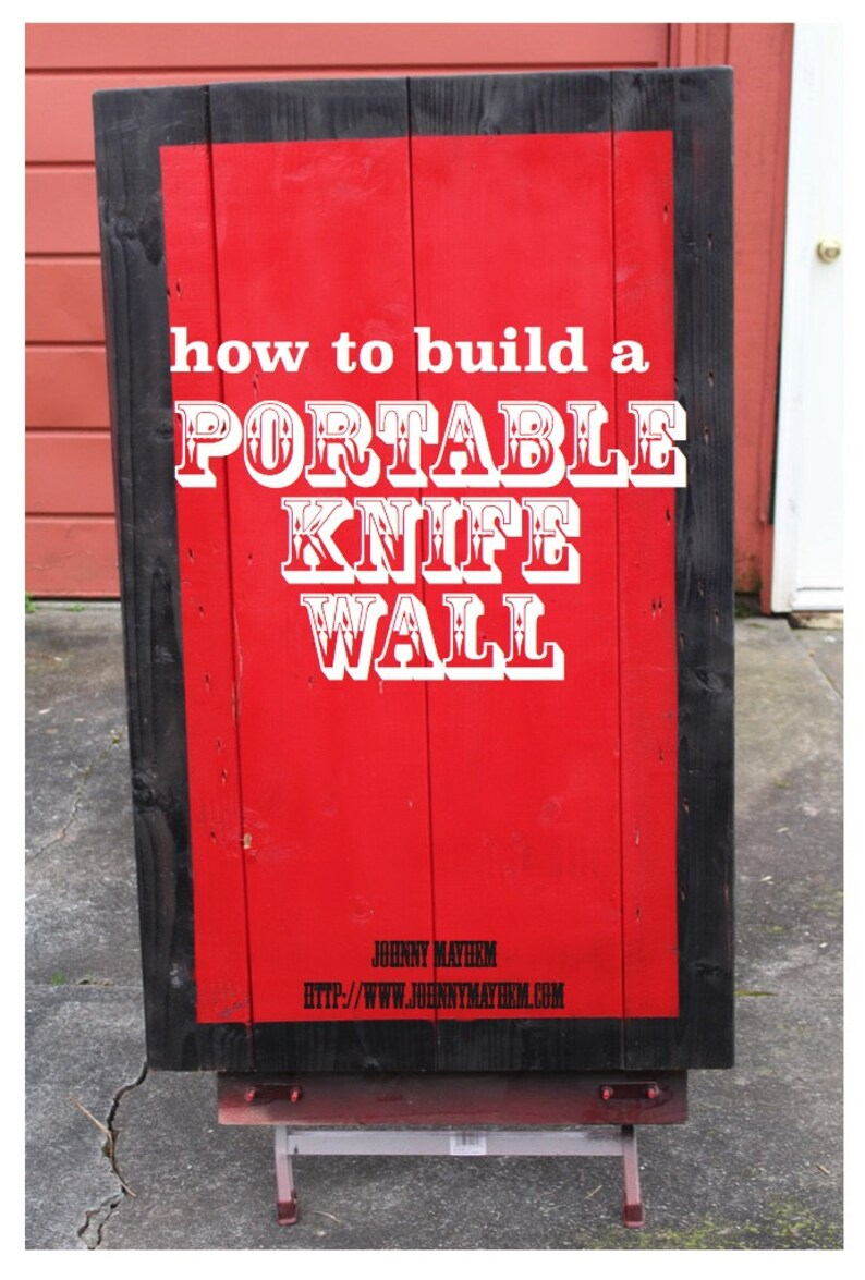How To Build a Portable Knife Wall PDF for performers image 0