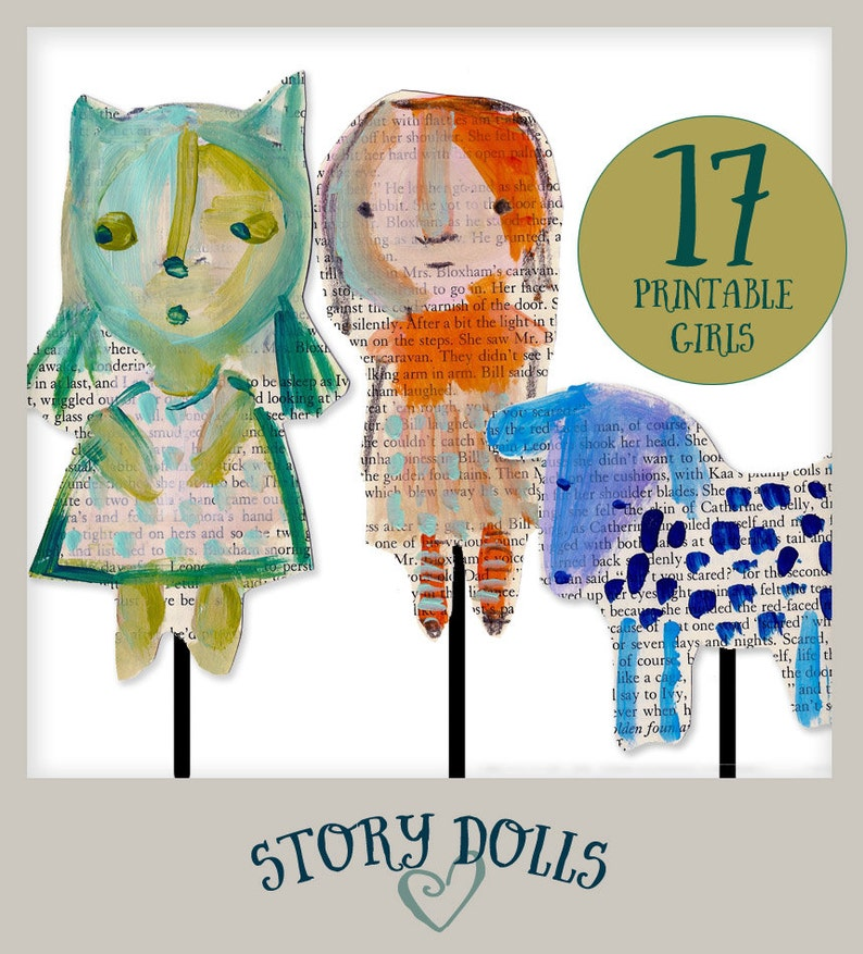 StoryDolls  printables for telling your stories image 0