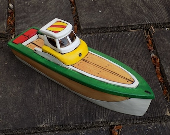 LAKE RACER-realistic toy wooden boat