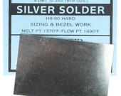 Silver Sheet Solder Hard 5dwt (1 4oz) (SSSH)
