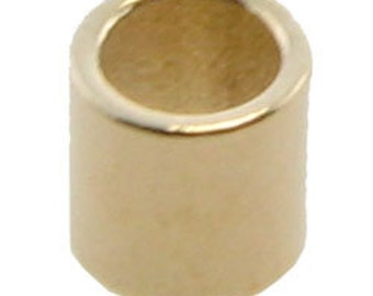 GOLD PLATED CRIMP TUBE 2x1.8mm with 1.3mm HOLE  pkg 100