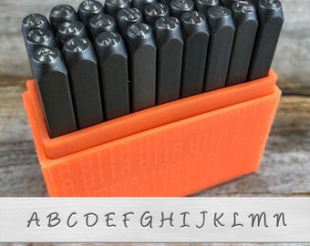 Metal STAMP punch comic Lettre Set minuscules 3 mm Punch 27 pc par BEADSMITH