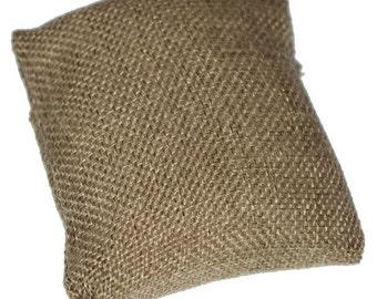 "Burlap Pillow for Watches or Bracelets 3""x3"" (Pkg of 5)  (DIS3130)"