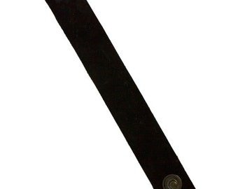 """Leather Cuff Black 1"""" Wide with 2 Snaps (LE2010)"""