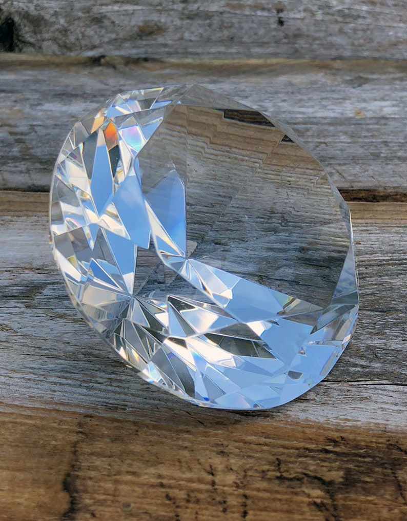 Crystal Cut Glass Display 3 12dia **CHIPPED**