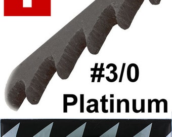 Pike Platinum Brand Jewelers Swiss Sawblades For Hard Metals #3/0 One Gross (49.476)