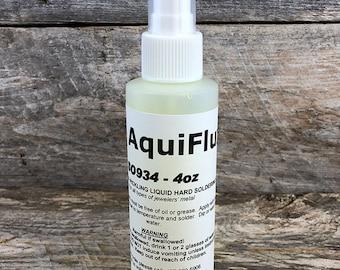 Aquiflux Yellow Soldering Flux in Spray Bottle (4oz) (SO934)
