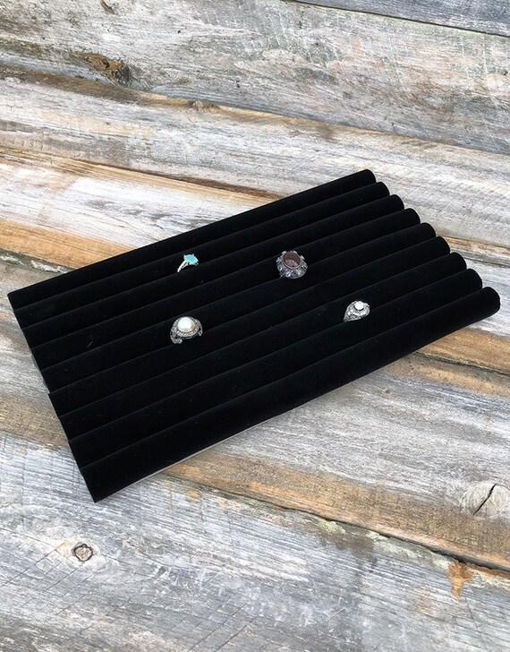 7 Hook Black Velvet Necklace Display Chain Pad 14 1//8 x 7 5//8
