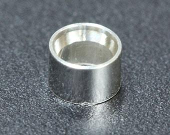 Sterling Silver Bezel Tube Settings (Pkg of 3) (511S-XX) Choose Size