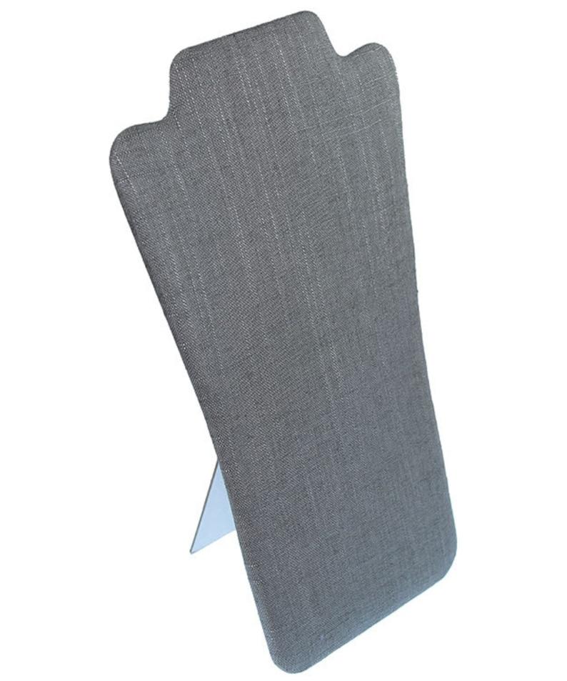 Grey Linen Flat Bust Display 7-78 x 12-58H Pack of 6 DCH7709