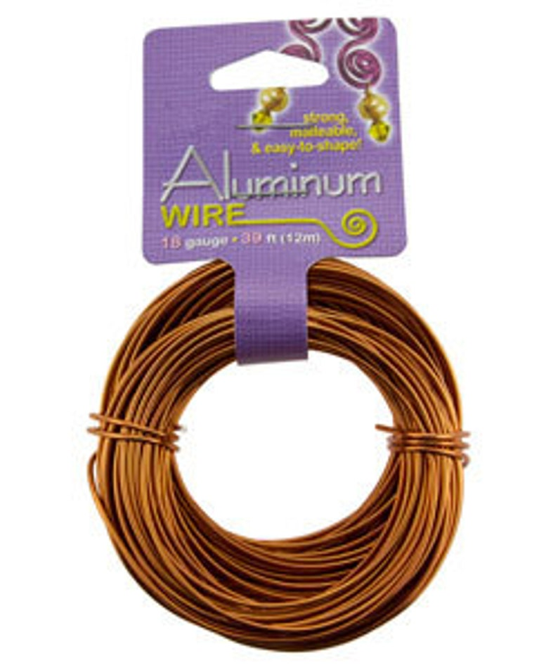 WR70318 Aluminum Wire Copper Color 18ga 39 Feet Per Bag
