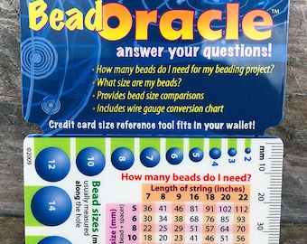 Jewelry makers tool measuring guide tool for measuring beads bead oracle beading information card ga2605 greentooth Gallery