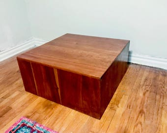Vintage Milo Baughman Style Cube Coffee Table
