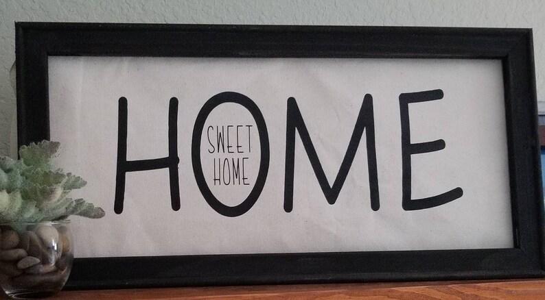 Home Canvas Art Home Wall Art Home Sweet Home Framed Canvas Art Home Sign