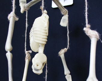 Disarticulated Skeleton Mobile - Primitive Halloween Decor - Halloween Party Decorations