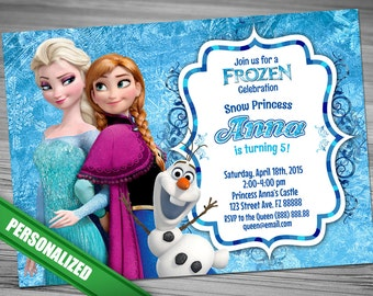 Frozen Invitation Etsy Birthday Invitations