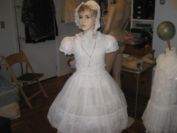 Vintage Organdy Communion Dress.