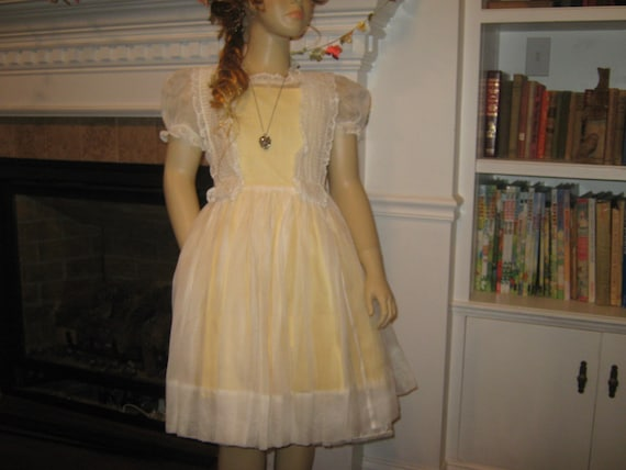 Vintage organdy dress