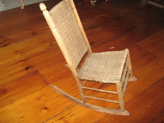 Peachy Old Antique Childs Rocking Chair Gmtry Best Dining Table And Chair Ideas Images Gmtryco