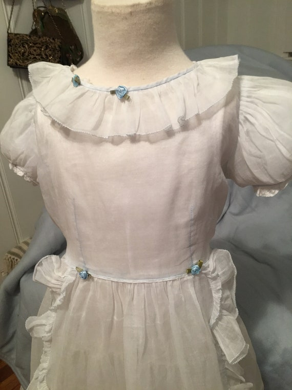Vintage Organdy Girls Dress