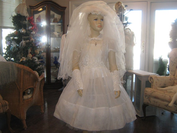 Vintage Organdy Communion Dress.