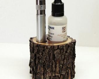 Texas Mesquite E Cigarette Holder, Ecig stand for 510 style Vapor cigarette holder, Solid mesquite wood, Office, man cave or home hol