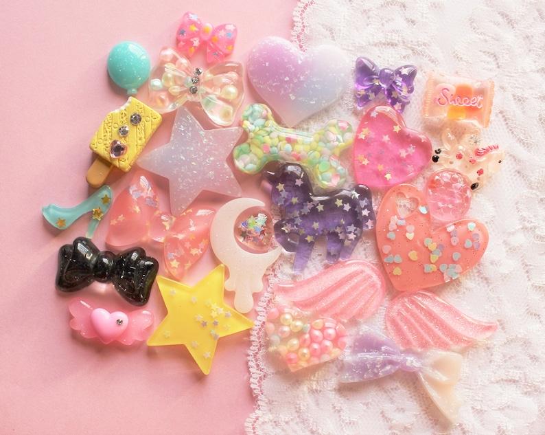 25 Pcs Sweet Pastel Fairy Cabochon Set Sizes 16mm-35mm Grade A Quality