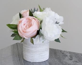 Pink Flowers In Vase Etsy