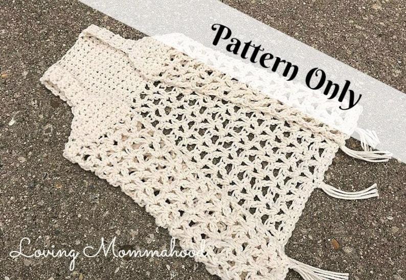 Boho Crochet Vest Boho Vest Boho Sweater Crochet Pattern Etsy