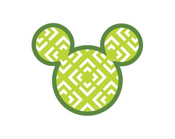 Tribal Mickey Head Design - Instant Download for T-Shirt and Apparel