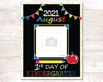 """First Day of School - PDF - 2021 School Year -- 8"""" x 10"""" Digital Art File"""