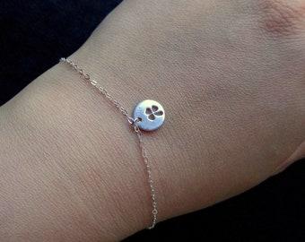 Sterling Silver Bracelet Clover Bracelet Lucky Charm Bracelet Minimalist Bracelet Clover Charm Bracelet Silver Chain Bracelet Silver Jewelry