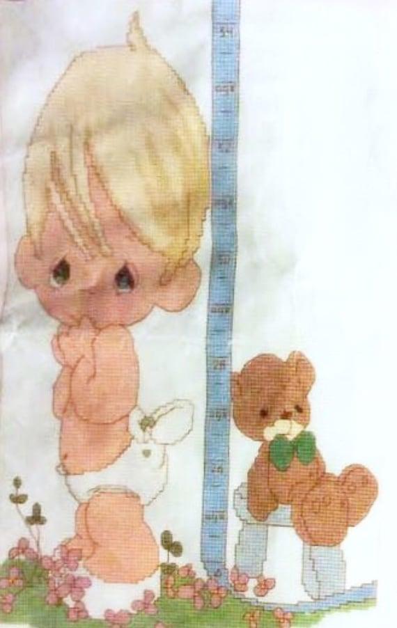 Janlynn Cross Stitch Precious Moments Precious Baby Just Grows Etsy