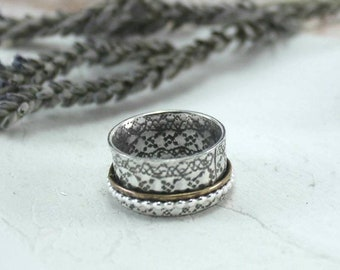 Posey Ring - Spinner Ring - Silver Spinner Ring