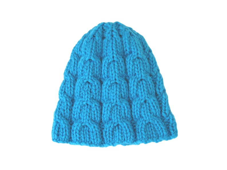 415ea5ce034115 Cable knit merino hat turquoise toque chunky hand knit hat