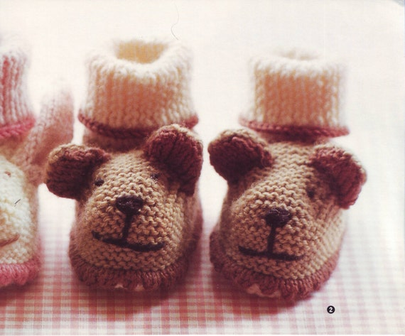 Baby Booties Patterns Zoe Mellor Book Knit Patterns Bootie Etsy