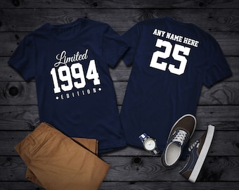 1994 Limited Edition 25th Birthday Party Shirt 25 Years Old Year Tee Personalized