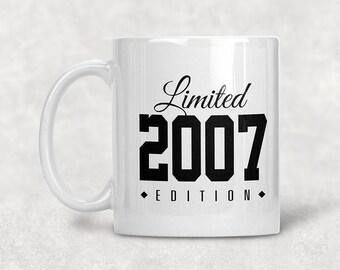 Limited Edition 2007 12th Birthday Mug Gift Coffee Idea For 12 Year Old