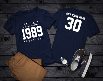 14b4761d9 1989 Limited Edition 30th Birthday Party Shirt, 30 years old shirt, limited  edition 30 year old, 30th birthday party tee shirt Personalized