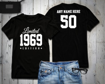1969 Limited Edition 50th Birthday Party Shirt 50 Years Old Year Tee Personalized