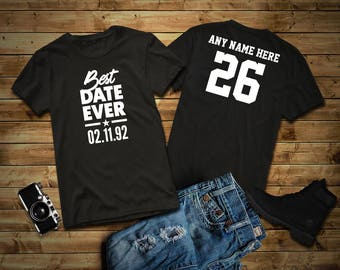26 Year Old Birthday Shirt Best Date Ever Tee Born In 1992 Custom Personalize Gift For Him Her