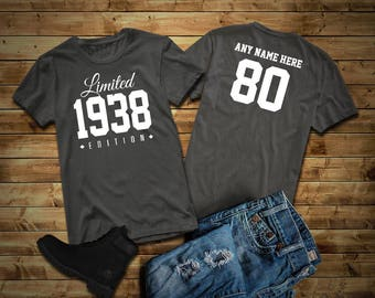More Colors 1938 Limited Edition 80th Birthday Party Shirt