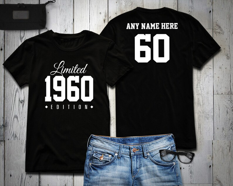 1960 Limited Edition 60th Birthday Party Shirt 60 years old image 0