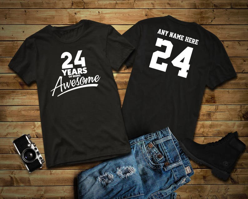 24 Years of Being Awesome 24th Birthday Party Shirt 24 years image 0