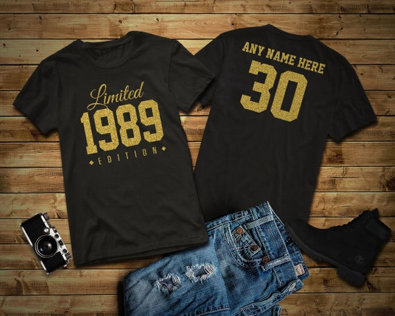 1989 Gold Glitter Limited Edition Birthday T-Shirt